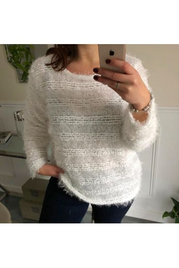 LARGE SIZE SWEATER BRIGHT 5067 WHITE