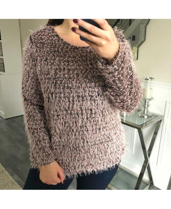 LARGE SIZE SWEATER HAS SOFT BRISTLES 5150 PINK