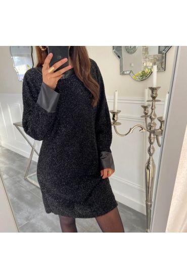 EVENING DRESS SHINY 5134 BLACK