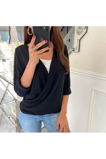 T-SHIRT CACHED HEART 5169 BLACK