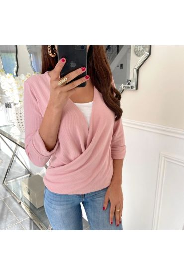 T-SHIRT IN CACHE CUORE 5169 ROSA