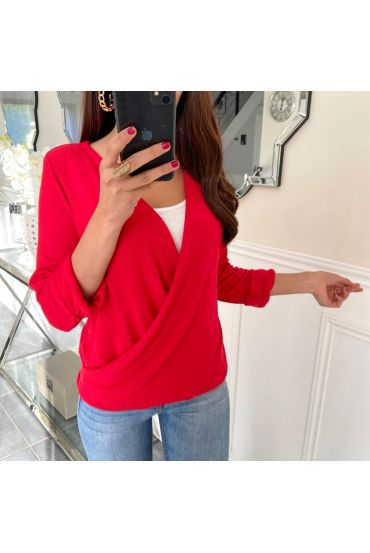 T-SHIRT IN CACHE CUORE 5169 ROSSO