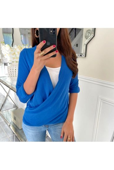 T-SHIRT IN CACHE CUORE 5169 BLU ROYAL
