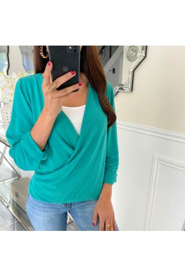 T-SHIRT CACHED HEART 5169 GREEN
