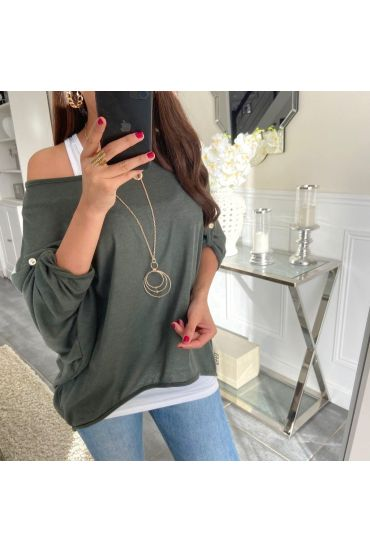 T-SHIRT 2 PIECES JEWELRY 5168 GREEN MILITARY