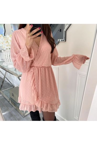 ROBE FROUFROUS VOILE 5161 ROSE