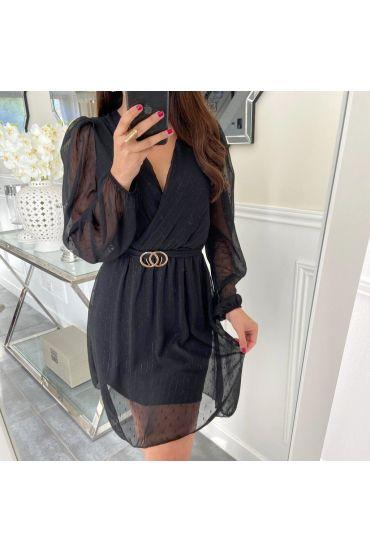 DRESS BELT VEIL 5163 BLACK