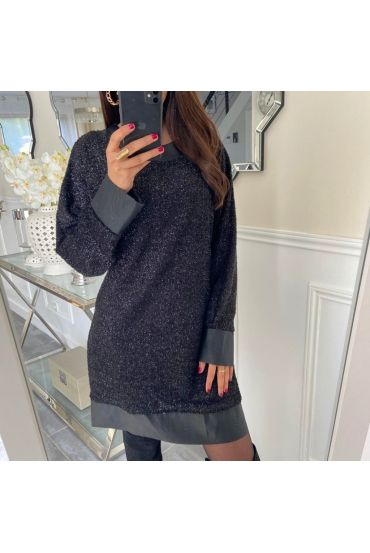 SHINY DRESS 5170 BLACK