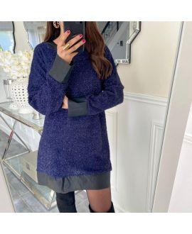 SHINY DRESS 5170 NAVY BLUE