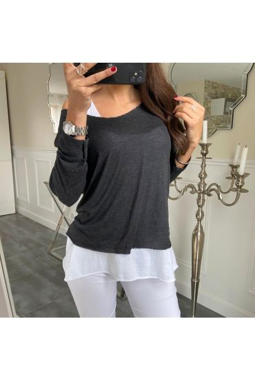 T-SHIRT 2 PIECES SILVER 5172 BLACK
