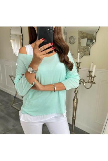 T-SHIRT 2 PIECES SILVER 5172 PASTEL GREEN