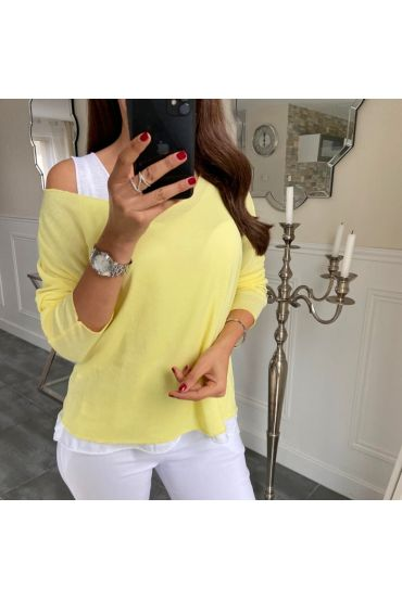 T-SHIRT 2 PIECES SILVER 5172 YELLOW