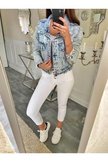 PACK OF 4 PANTS JEANS S-M-L-XL 5199 WHITE