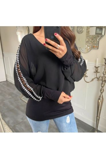TOP DETAIL SLEEVE 5171 BLACK