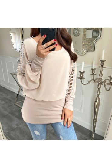 TOP DETAIL SLEEVE 5171 TAUPE