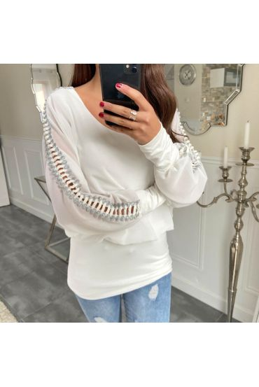 TOP DETAIL SLEEVE 5171 WHITE