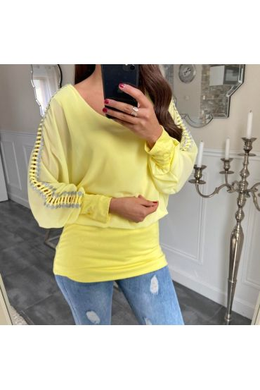 TOP DETAIL SLEEVE 5171 YELLOW FLUO