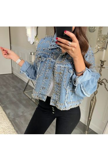 JACKET JEANS CLOUTEE 5193 BLUE