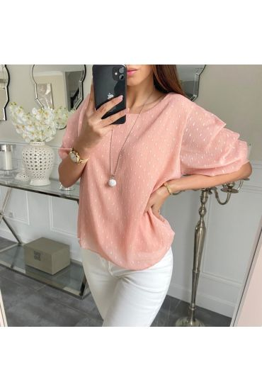 TOP PUFFY SLEEVES + COLLAR 5203 PINK