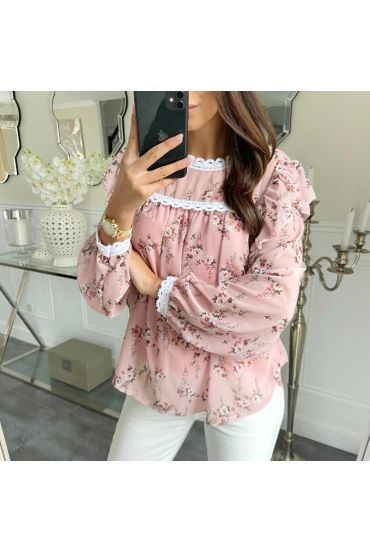 BLOUSE FLORAL 5210 PINK
