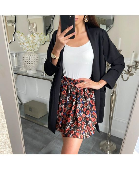 SHORT SKIRT FLORAL 5213 BLACK