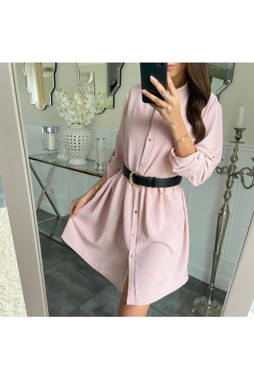 TUNIC DRESS HAS BUTTONS 5214 PINK