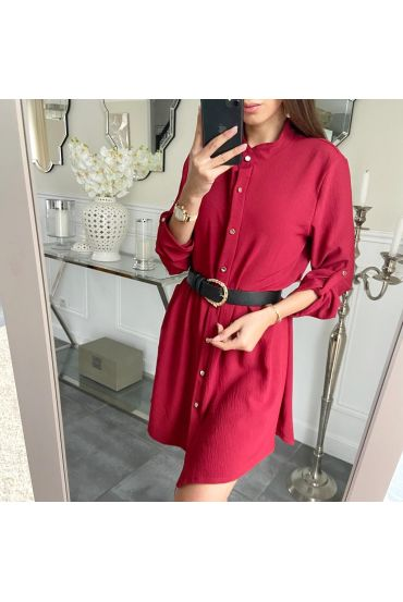KLEID TUNIKA A-TASTEN-5214 BORDEAUX