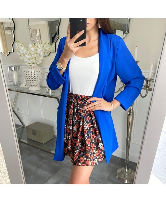 JACKET BLAZER LONG 5209 ROYAL BLUE