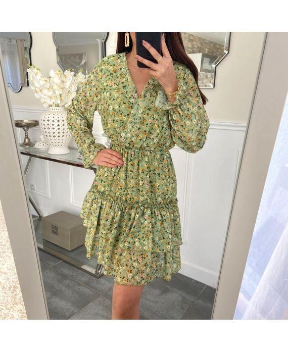 DRESS FLOWER 5226 GREEN