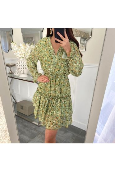 DRESS FLOWER 5226 GREEN
