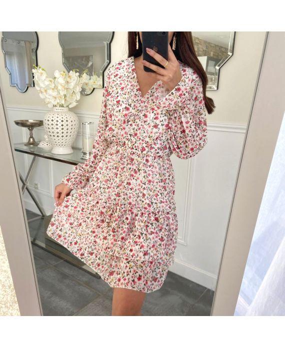 DRESS FLOWER 5226-WHITE