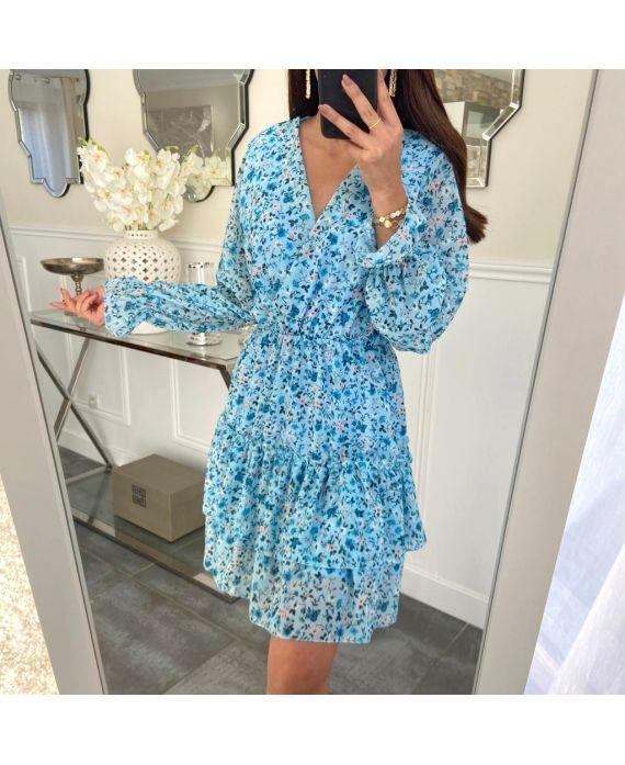 DRESS FLOWER 5226 BLUE