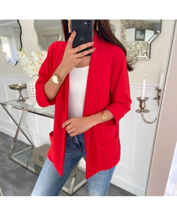 JACKET BLAZER 2 POCKETS 5232 RED