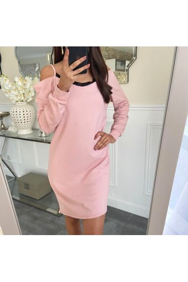 ABITO IN PIZZO SULLE SPALLE 5240 ROSA
