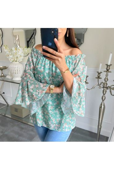 TUNIC FLORAL 5249 GREEN