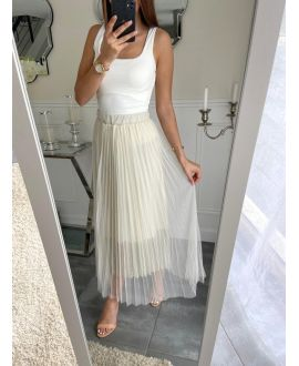 LONG SKIRT CLOAKING 5247 WHITE