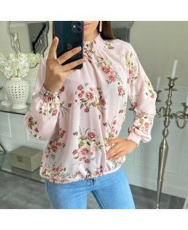 BLOUSE COLLAR ELASTIC 5243 PINK