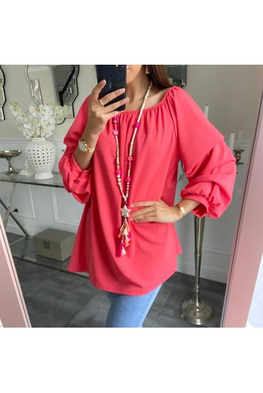 TUNIC PUFFED SLEEVES 5259 CORAL