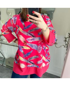LARGE SIZE TUNIC FEATHERS 5220 RED