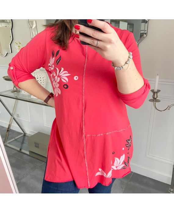 LARGE SIZE TUNIC PRINTS 5257 RED