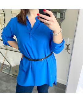LARGE SIZE TUNIC + BELT 5254 ROYAL BLUE