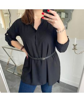 LARGE SIZE TUNIC + BELT 5254 BLACK