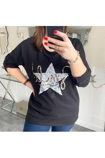 LARGE SIZE T-SHIRT STAR 5217 BLACK