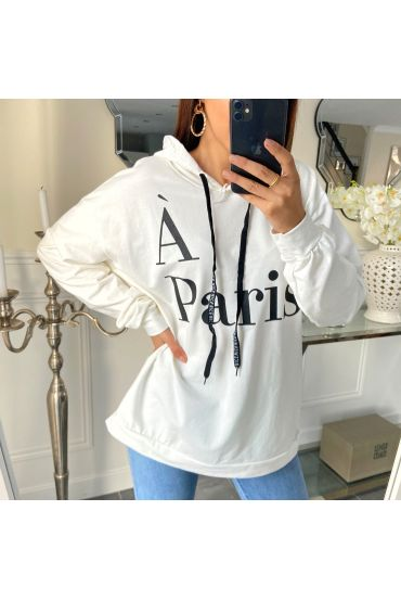 PULL SWEAT PARIS 5267 BLANC