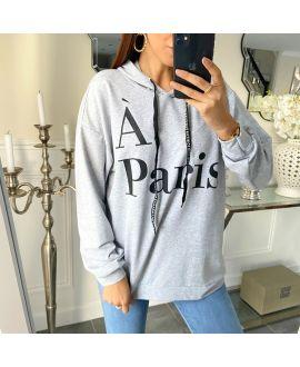 SWEATER HOODIE PARIS 5267 GRAY