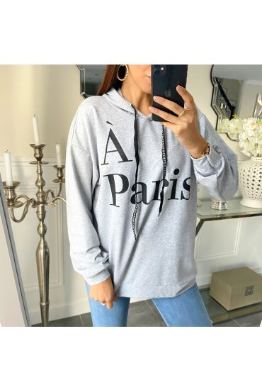 SWEATER HOODIE PARIS 5267 GRAY
