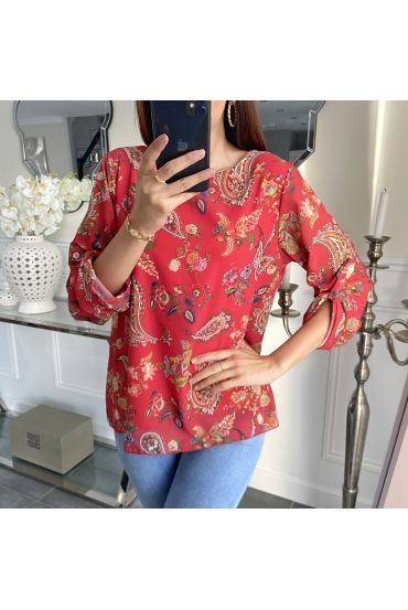 TUNIC PRINTED 5266 RED