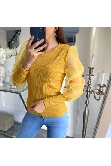 SWEATER SLEEVES CLOAKING 5268 YELLOW