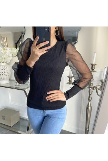 SWEATER SLEEVES CLOAKING 5268 BLACK