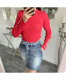 A SWEATER-STYLE OFFICER 5270 RED